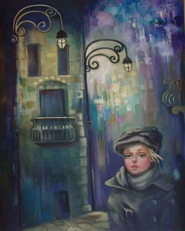 The Lights of The City - 80 x 100cm