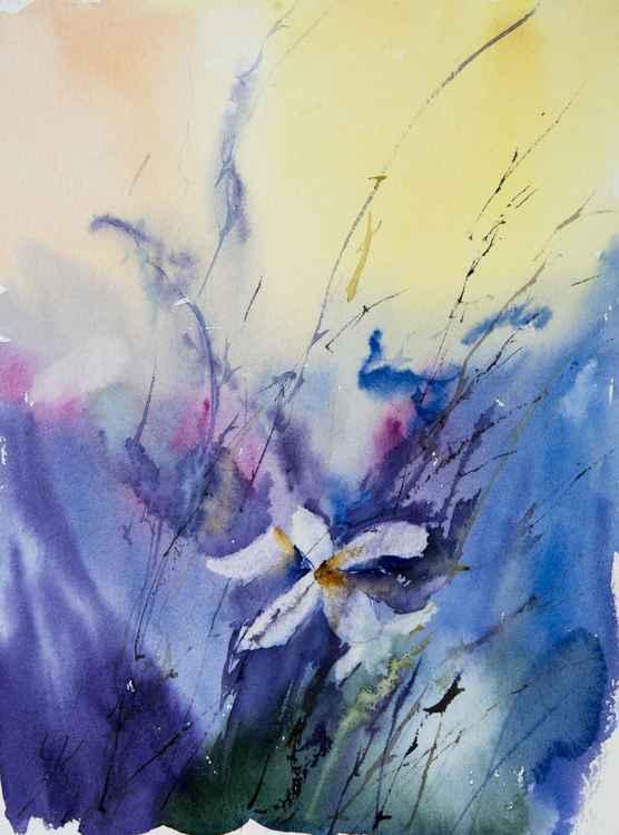 """summer mood"", original watercolour painting, 9.4""x12.6"" (24x32cm)"