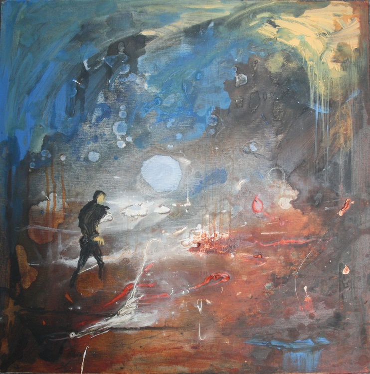 Morten Harket, of Nineteen-eighties Norwegian Popsters, A-ha, Chases His Pet Raven, Ragnhild, Into an Imaginary Underworld Constructed Mainly Out of Acrylic Paint - Image 0