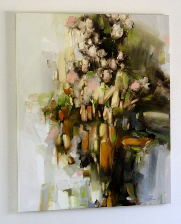 Bouquet of Roses Original Contemporary oil Painting on Canvas large Size - Image 0