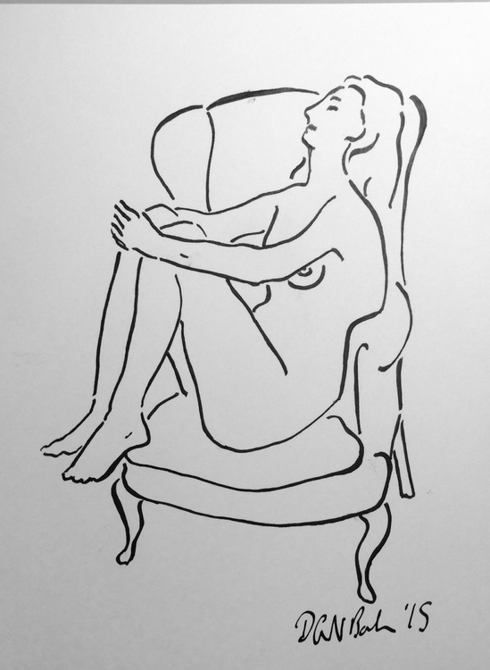 Nude in Armchair 1 - Image 0