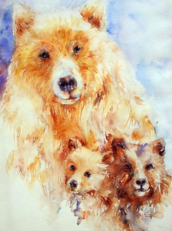 Mama Bear with Cubs - Image 0