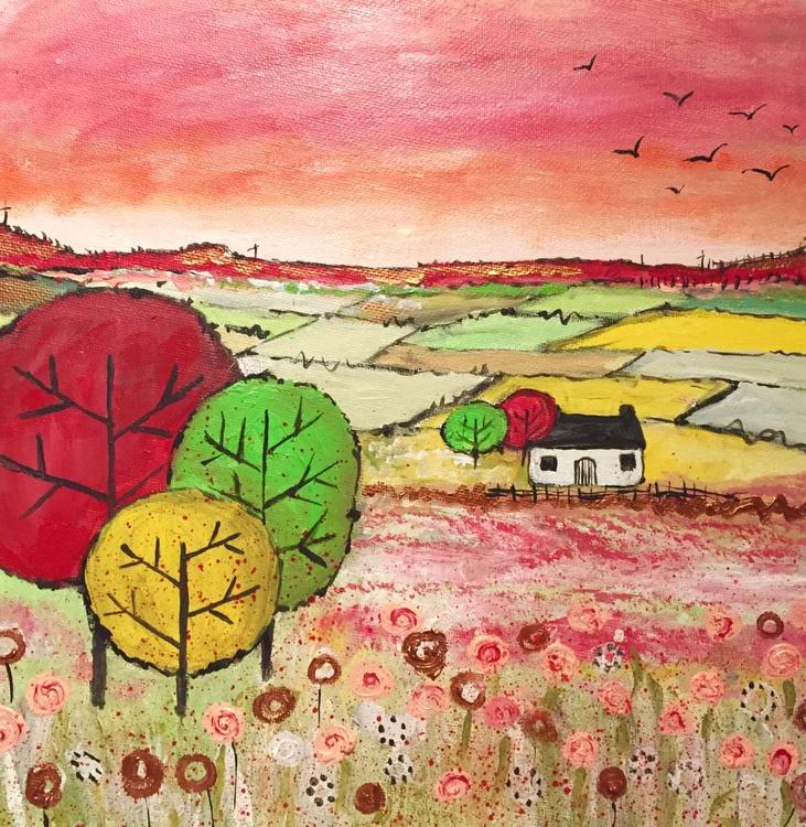 A rural life - acrylic landscape cottage - Image 0