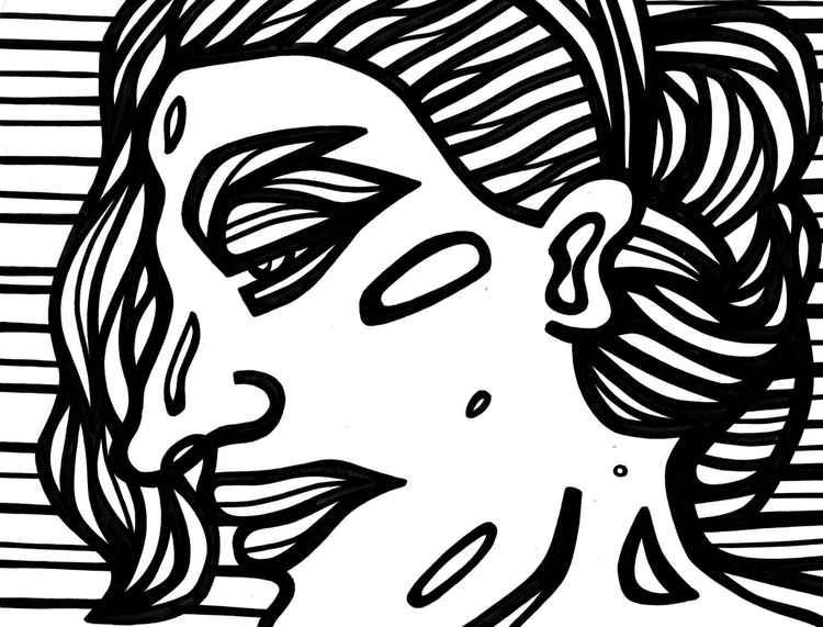 Lachrymose Woman Original Drawing