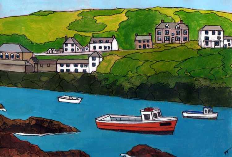 Port Isaac, low tide.