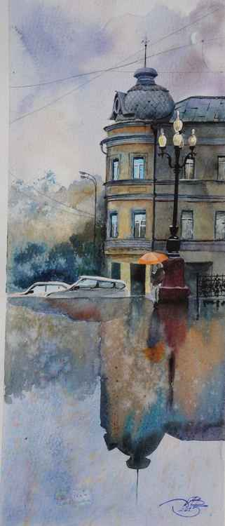 Rain in Moscow -