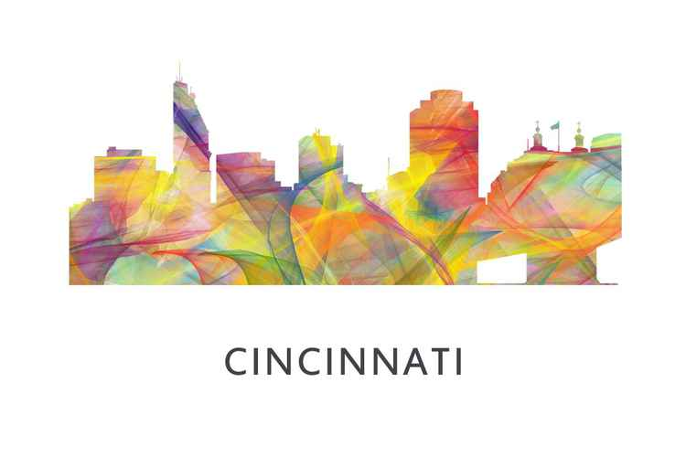 Cincinnati Ohio Skyline WB1 -