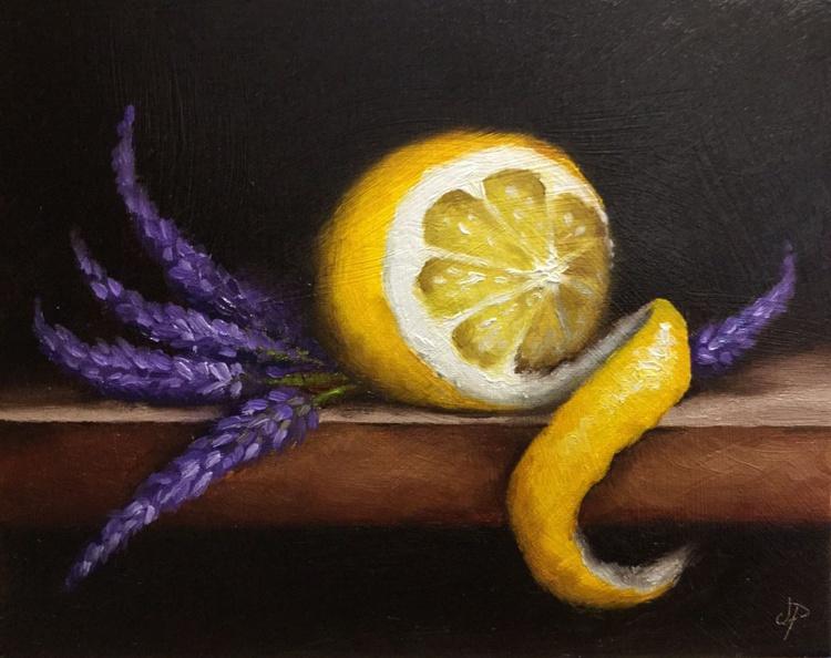 Peeled Lemon with lavender - Image 0