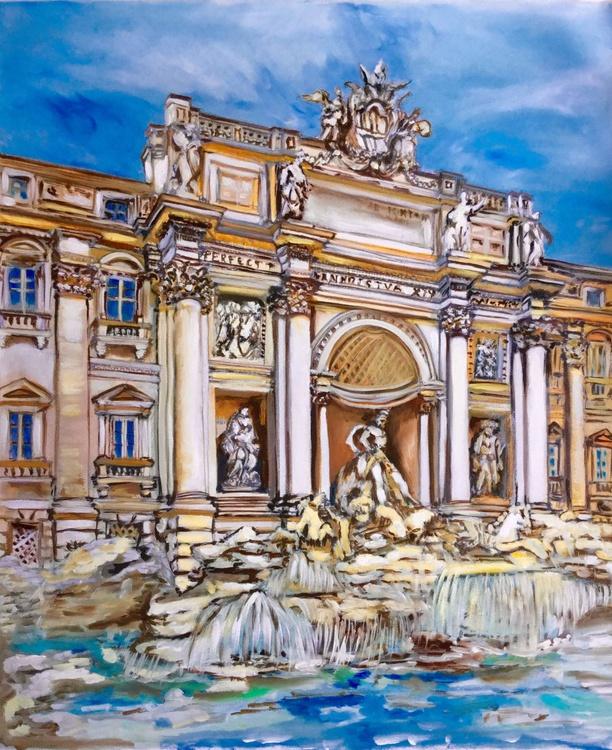 Rome . Famous places . Fountain Trevi . - Image 0