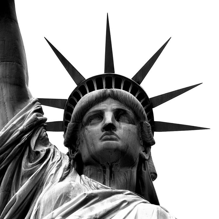 Lady Liberty - black and white (B&W) - Image 0