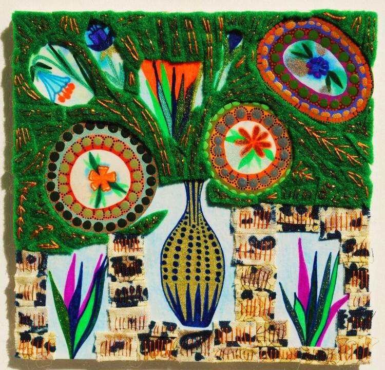 Harriet, still life vase of flowers - Image 0