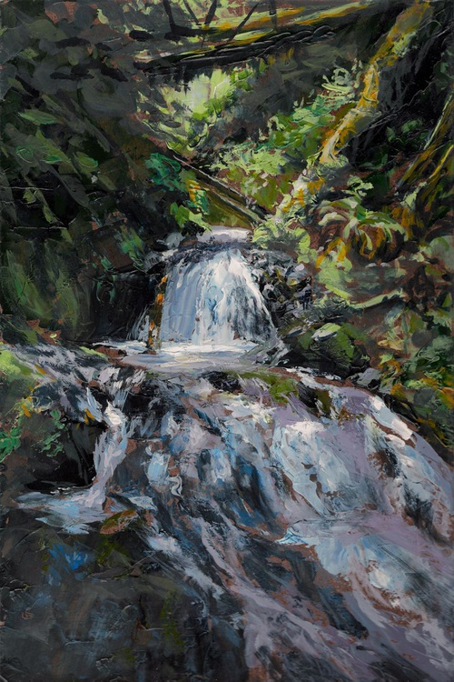 Refreshed - Original Waterfall Painting - Image 0