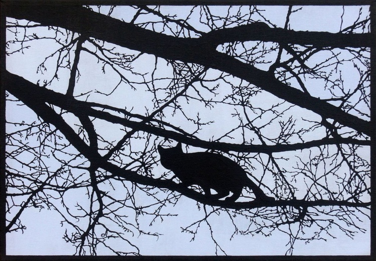 A Cat in a Tree (miniature multilayer technique) - Image 0