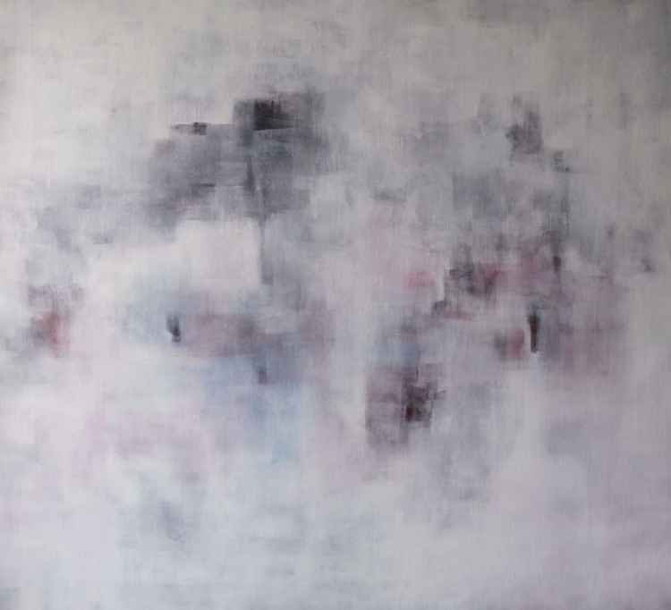 Dominantion of white, comp. #3, 110x100cm -