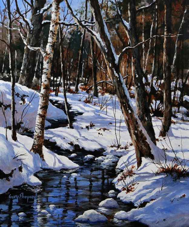 Winter Brook  20 x 30 Acrylic