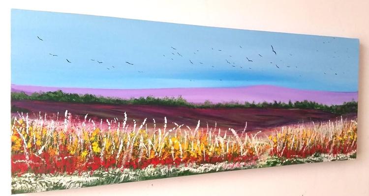 Scents of Summer - Landscape, Lavender, Purple, Calm Modern Art Office Decor Home - Image 0