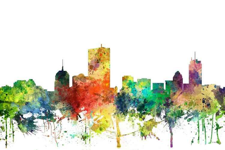 Boston, Massachusetts Skyline SP -