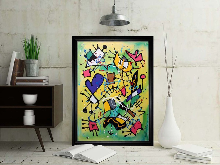 Dancing In Northern Lights (Ready Framed) - Image 0