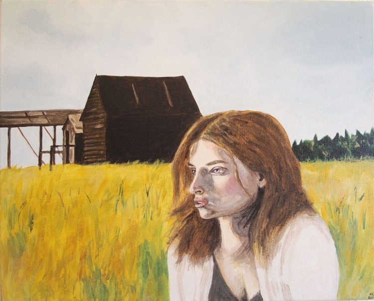 Girl in a Field - Image 0