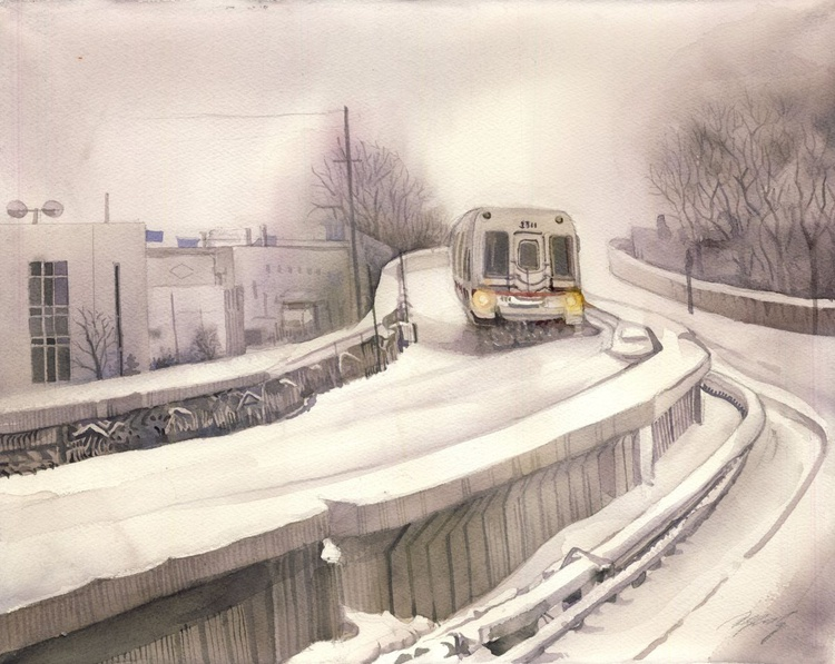 Taking the snow train home - Image 0