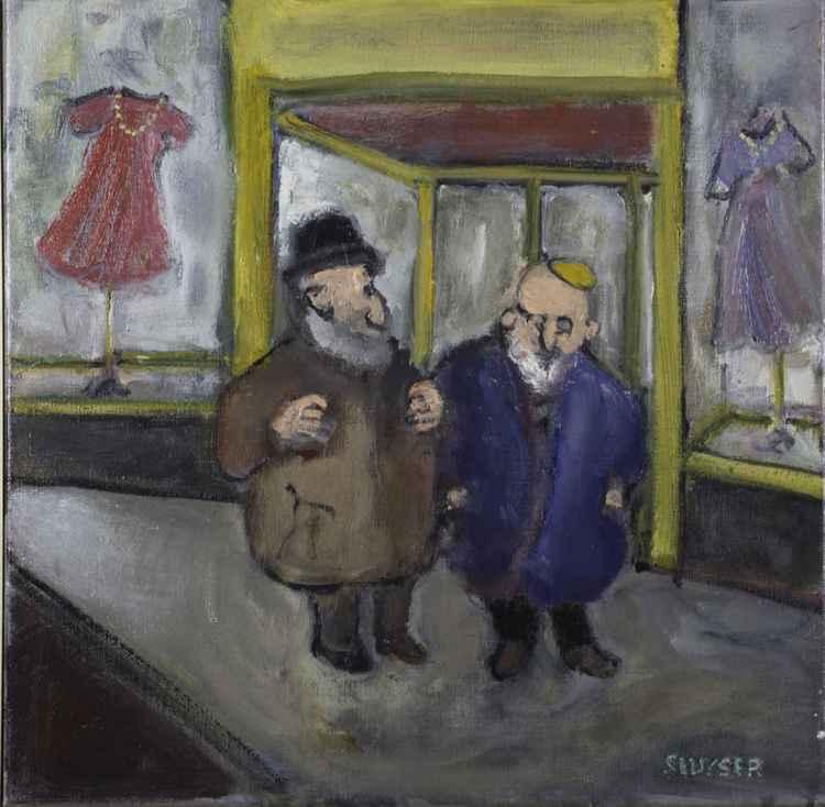 Jewish men in a shopping Mall    (Cat N° 4538)