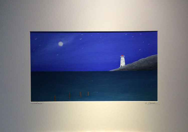 """ lighthouse ""Seascape 50x35cm -"