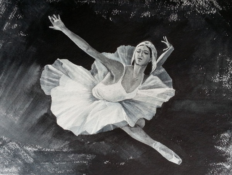Prima Ballerina Performing the Dying Swan - Image 0