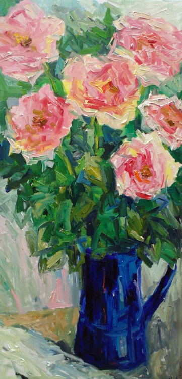 Roses in the blue jug - Image 0