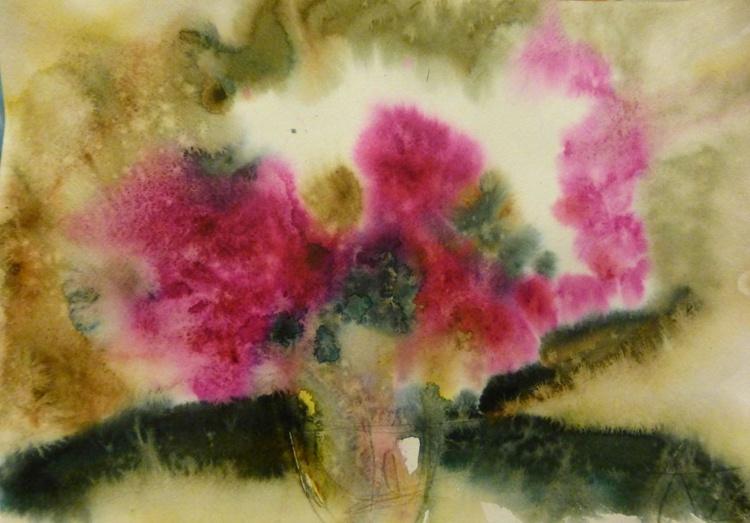Autumn bouquet of flowers, oil painting 30x42 cm - Image 0