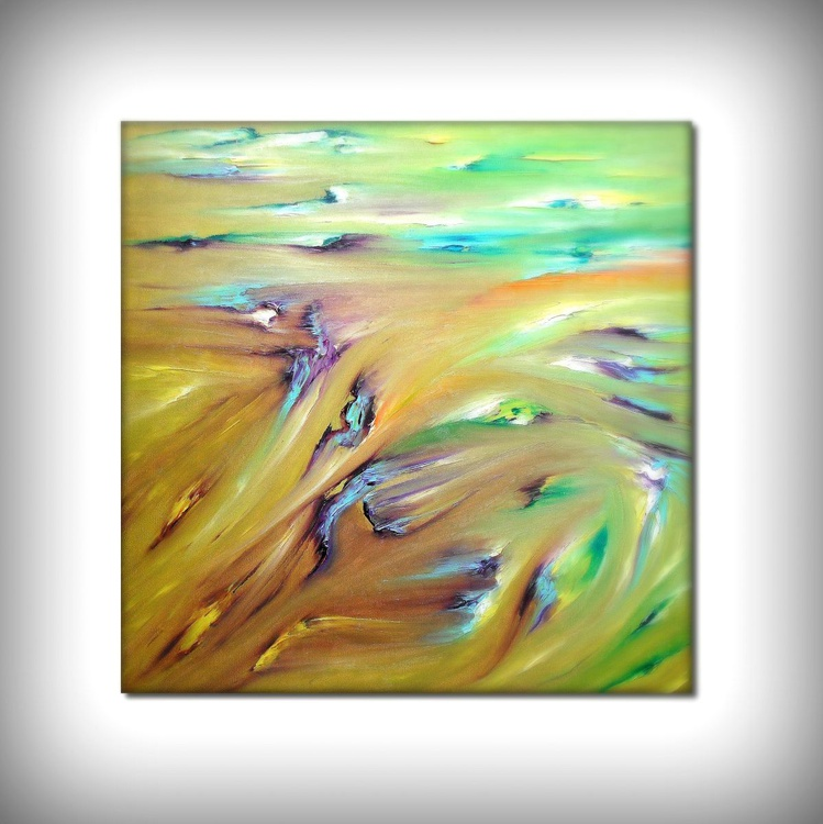 Sublimation - 50x50 cm, Original abstract painting, oil on canvas - Image 0