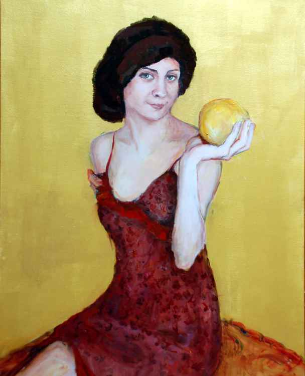 Girl With Grapefruit -