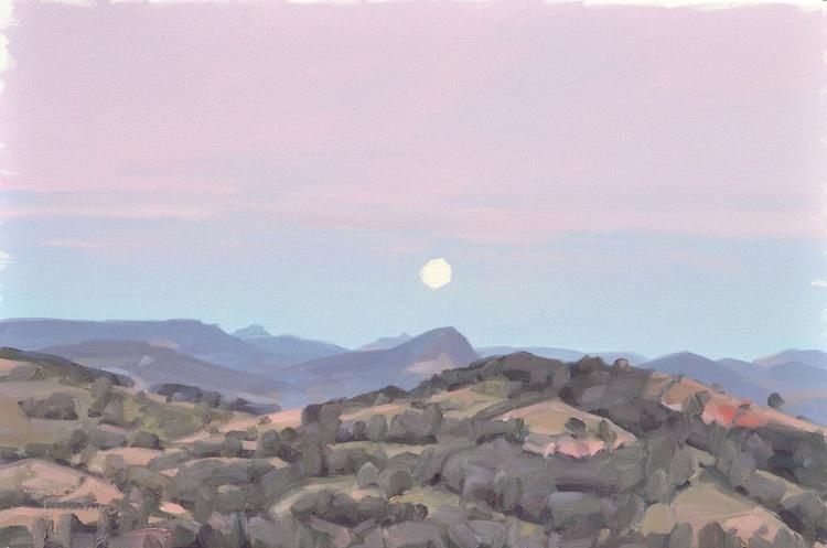June 2, Roches de Mariol, moonrise - Image 0
