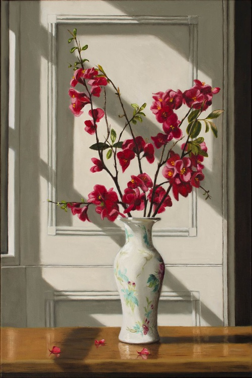Japanese Quince, Chinese Vase - Image 0