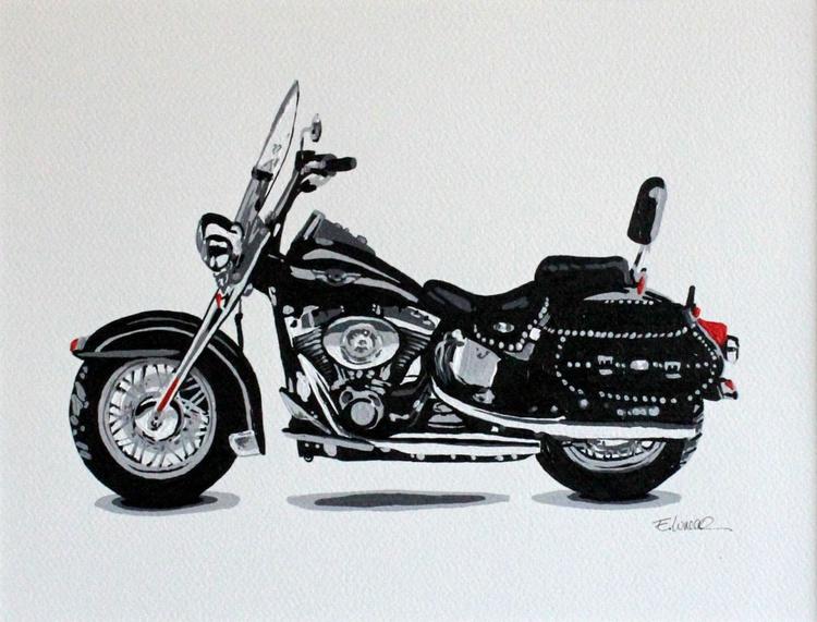 Motocicleta negra - Image 0