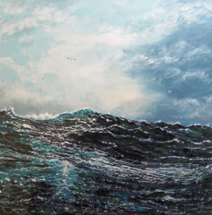 Gulls at sea. - Image 0