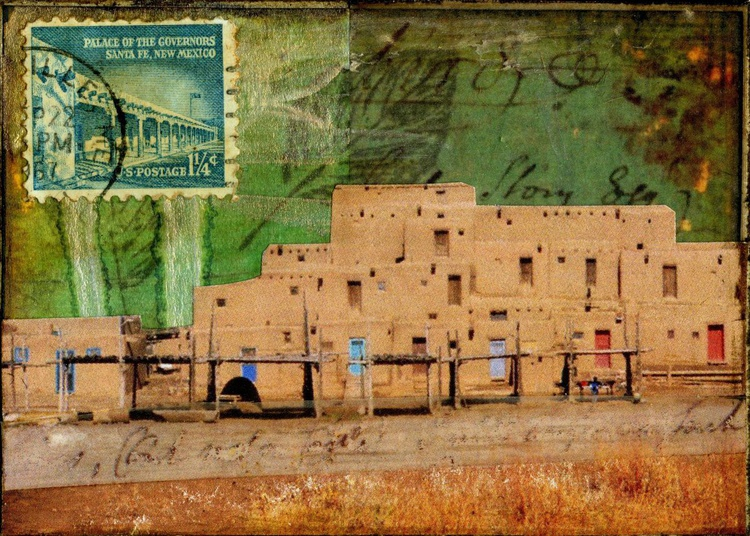 Pueblo, Mixed Media Miniature Art - Image 0
