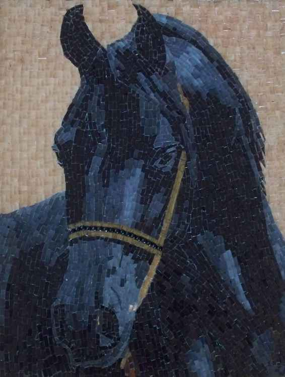 Onyx, glass micro mosaic