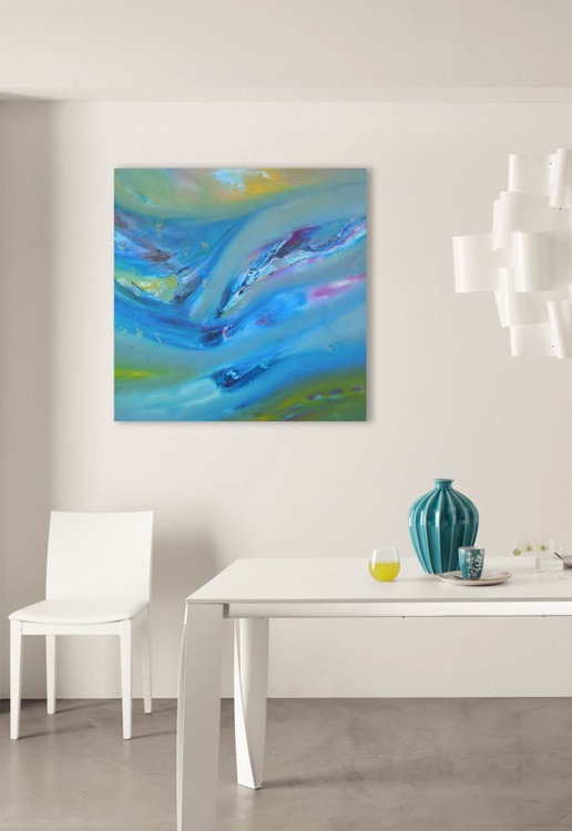 Earlier breeze -  50x50 cm, Original abstract painting, oil on canvas - Image 0