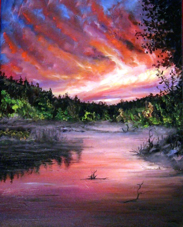 Sunset over the lake - Image 0