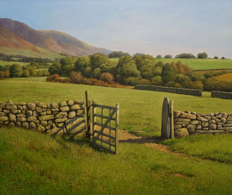 """THE OLD GATE"" Photorealistic landscape oil painting. - Image 0"