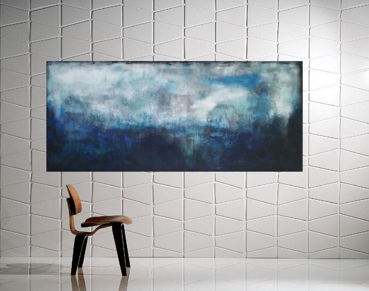 """53x 23,5""""( 135x60cm), Alonnisos Island Landscape,  lansdcape painting , canvas art, home painting - Image 0"""