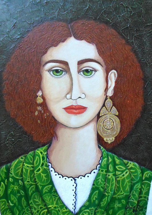 Woman with green eyes - Image 0