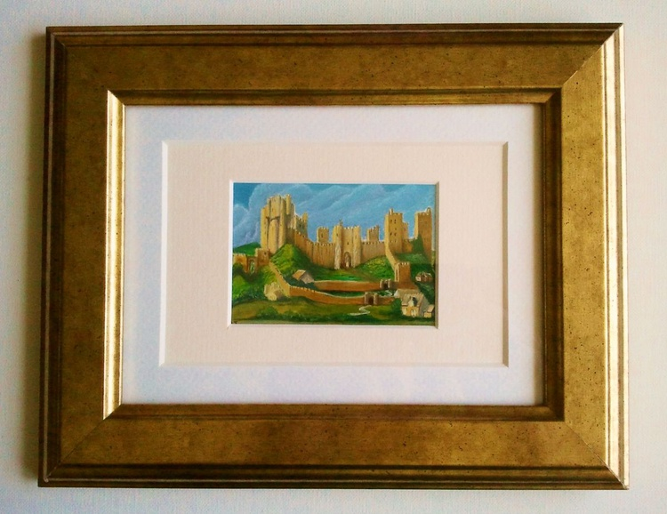 Pontefract Castle - Miniature of a Painting by Alexander Keirincx - Image 0