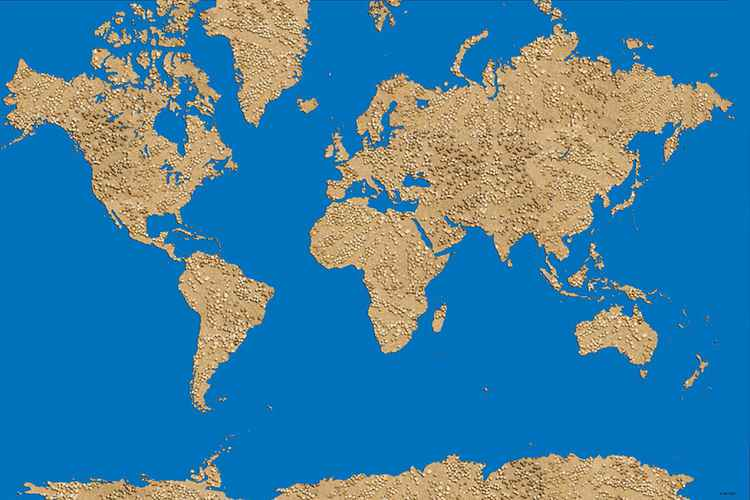 World Map - Sand Dots -