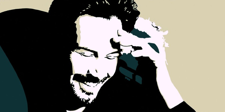 """Keanu Reeves - Large - Monoprint on Forex Board - 23.62 x 15.75"""" - FREE SHIPPING - Image 0"""