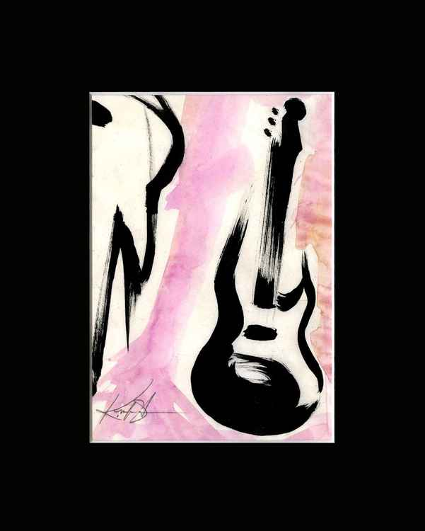 Guitar 4 - Abstract Illustration Painting -