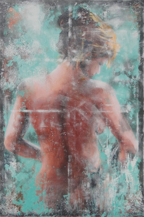 nude in turquoise - Image 0