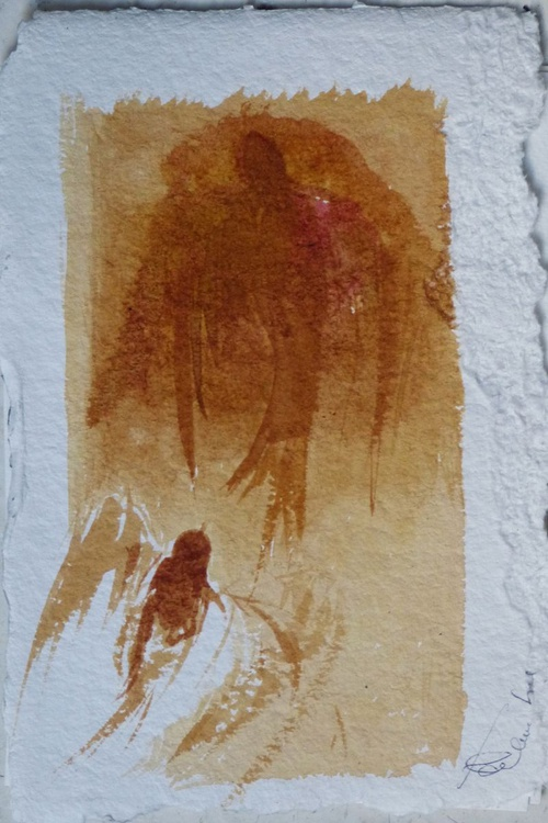 Birds of Carros #39, on heavy paper, small budget 16x23 cm - Image 0