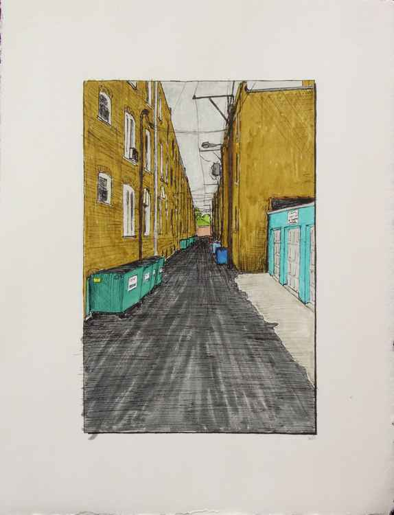 Alley with Rogers Park Apartment Canyon -