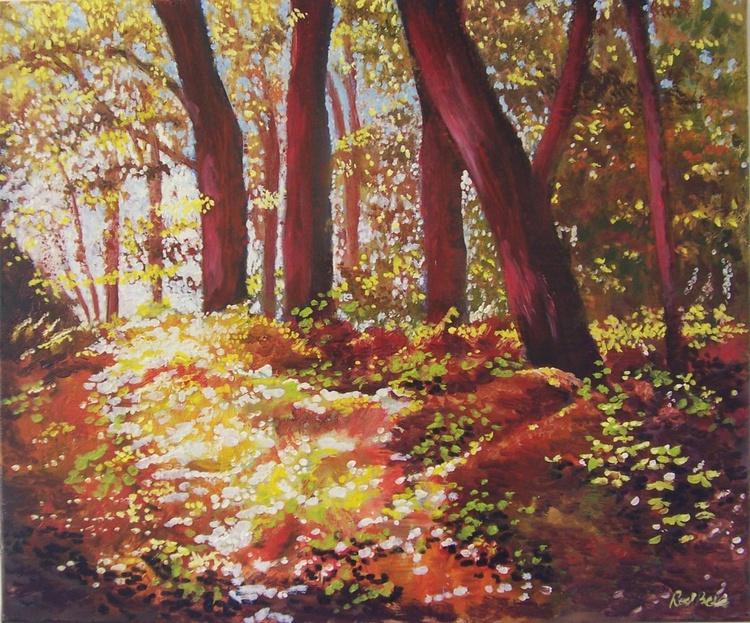 Spring sunlight on the autumn ferns - Image 0
